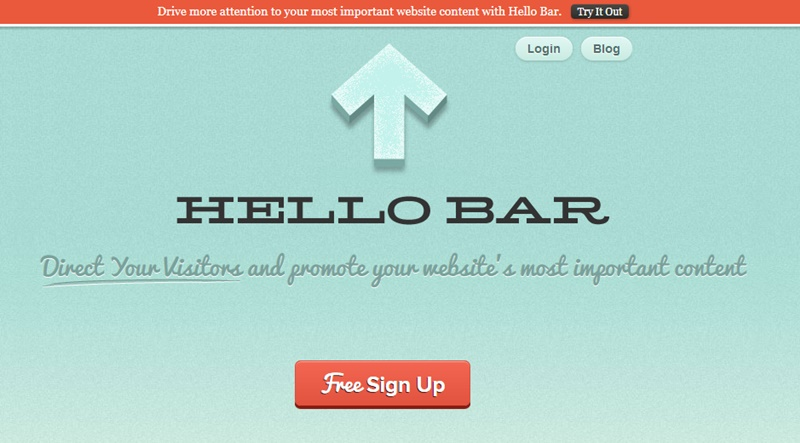 An example of an opt-in bar to put at the top of your site to help you grow your email list.
